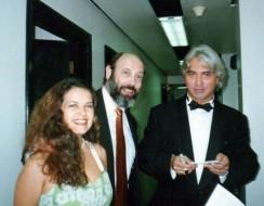 Andrea Ferreira, Sergio Casoy e Dmitri Hvorostovksy 03/09/1997