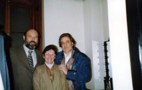 Sergio e Geni Casoy com Eduard Tumagian (Renato Ballo in Maschera) & Geni - TMSP - 29/05/1997