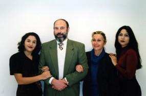 Angelica Feital, Sergio Casoy, Isabel Maresca e Luciana Bueno - 06/98