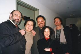 Sergio Casoy, Céline Imbert, Paulo Mandarino e esposa, Walter Neiva-22.05.1999