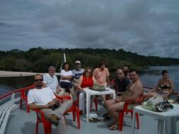 Rio Negro, AM-26.04.2006:Ao fundo Cristina Gallardo-Domas, S.Casoy, J.L.Sampaio