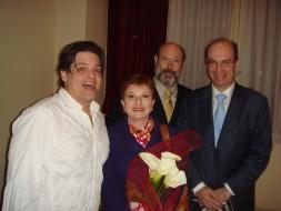 Fernando Portari, Mariella Devia, Sergio Casoy, Heraldo Marin em Palermo-13.04.08