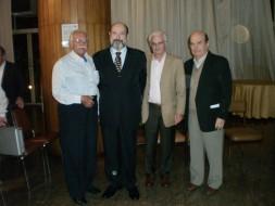 Sergio Casoy e os diretores do Circolo Italiano:Giuseppe Pagano, Mario de Fiori, Giuseppe Cappellano - 14.04.2010
