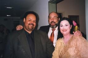 Paulo Mandarino, Sergio Casoy e Gitta-Maria Sjöberg (Butterfly no Teatro Alfa) - 22.05.1999