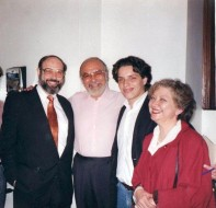 Sergio Casoy, Renato Bruson, um fã e Marta Faja-TMSP-17.08.1996