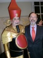Carlos Eduardo Marcos (Faraó em AIDA) e Sergio Casoy - TMSP 09.08.2013