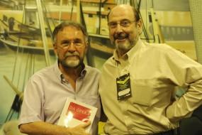 Paulo Chaves (Secretário de Cultura do Pará) e Sergio Casoy-X Feira Intnl.Livro-Belém set.2011