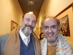 Sergio Casoy e Leo Nucci (Nabucco) após a récita de Nabucco 30.01.2014, Teatro Comunale di Firenze