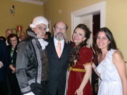 Rodrigo Esteves (Scarpia), Sergio Casoy, Silviane Bellato (Tosca), Constança Moreno-Belém 8.11.11