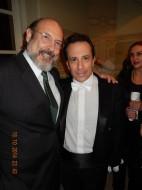 Sergio Casoy e o maestro Ira Levin-TMSP 18.10.14