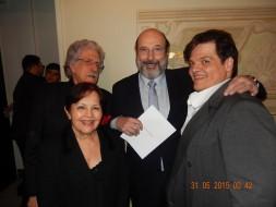 Sergio Casoy e a família do tenor Fernando Portari-TMSP 30.05.2015