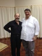 Sergio Casoy e o barítono Ambrogio Maestri no Instituto Italiano de Cultura-10.04.2014