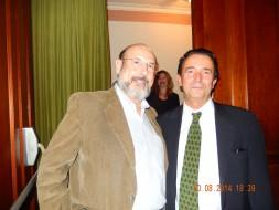 Sergio Casoy e o compositor Ricardo Llorca, autor de LAS HORAS VACIAS-10.08.2014