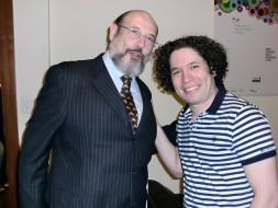 Sergio Casoy e o maestro Gustavo Dudamel-19.06.2011