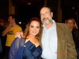 Sergio Casoy e o soprano Laura Rey